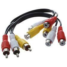 New 3 RCA Male Jack to 6 RCA Female Plug Splitter Audio Video AV Adapter G3T5