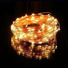 LED 200 warm Fairy String Lights White 65.6 ft Copper Wire Plug-In PARTY WEDDING