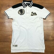 Polo Ralph Lauren Polo Shirt  Football 67 Custom Fit Indian Head White Small