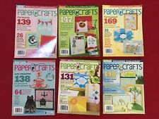 Lot of 6 Paper Crafts Magazines 10-11 Craft Rubber Stamping Projects Instruction