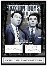 (##72) the kray twins signed a4 photograph ronnie & reggie kray (reprint) ###