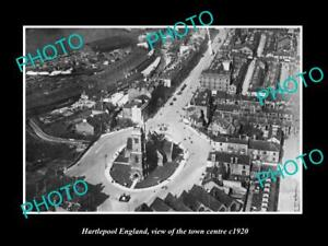OLD 8x6 HISTORIC PHOTO OF HARTLEPOOL ENGLAND VIEW OF THE TOWN CENTRE c1920 1
