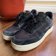 Nike Air Force 1 '07 Suede Mens AO3835-001 Black Sail Athletic Shoes Size 10