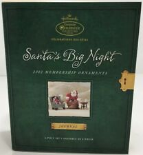 Hallmark Keepsake Santas Big Night Ornament Membership Set Collectors Club 2002