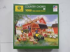 "JOHN DEERE "" COUNTRY CHORES "" 1000 PCS JIG SAW PUZZLE 19-1/4"" X 26-5/8"" 8696 F/S"