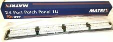 Matrix 24 Port Patch Panel 1U Cat 5e T568B