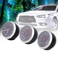 3pcs Car Mini Mechanics Thermometer Hygrometer Clock Time Steel Core Pointer UP