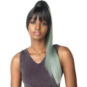"""SENSATIONNEL SYNTHETIC DRAWSTRING PONYTAIL INSTANT PONY AND BANG - CAMI 24"""""""