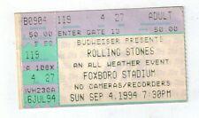 rolling stones ticket stub foxboro stadium sep. 4, 1994