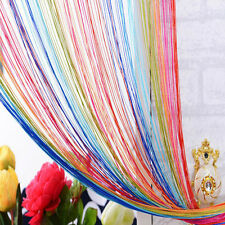 Room Divider Fly Screen Curtain Strip Tassel Colorful Door Window Panel Hot