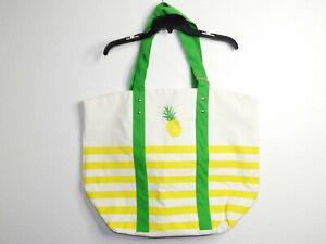 Tommy Bahama Reusable Bag XXL Beach Grocery Bag Tote Pineapple Stripe