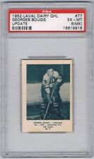 1952 Laval Dairy QHL Update Hockey Card  Valleyfield G. Bougie Graded PSA 6MK