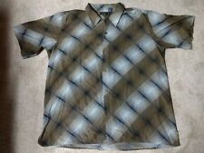 Pronti Collection By Phita Short Sleeve Button  Down Shirt 4XL