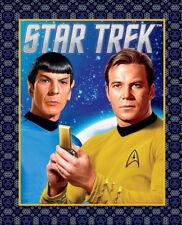% SALE Star Trek Panel Patchworkstoff Stoff Kinderstoff Film Spock Captain Kirk