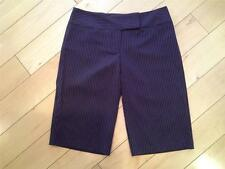 SIZE 9 - Junior NEW A. BYER Black Brown Pinstripes Capri Cropped Pants 31 Waist