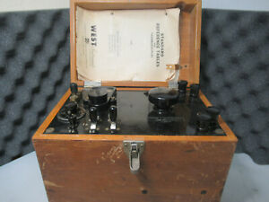 Vintage Leeds & Northrup Co potentiometer (Wood) #4198J