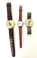Mickey Mouse Ingersoll US Time 1940s watch + Lorus Quartz Melody Alarm + Disney