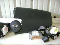 02 03 Land Rover Freelander Air Bag Set Wheel Dash Belts OEM Charcoal