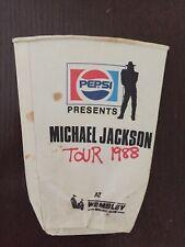 Michael Jackson Wembley stadium Bad Tour Pepsi 88 Flattened Disposable Cup 1988