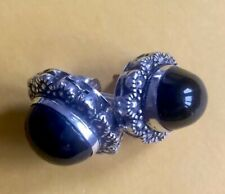 Plain 925  Silver Round Cut BlackStone Hypoallergenic Earrings For Women & Girls
