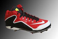 Nike Air Swingman Mvp 2 Mid Metal Baseball Cleats 616258-610 Red Size 11