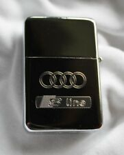 Audi S Line Solid Brass Lighter in Chrome- Free Engraving-Ideal Gift, Birthday