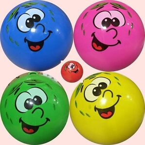 NEW FRUITY SMELLY SCENTED BALL FOR KIDS WITH KEYCHAIN BOUNCE FRUIT SMILEY FACE