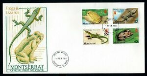 Montserrat - 1980 Frogs & Lizards First Day Cover