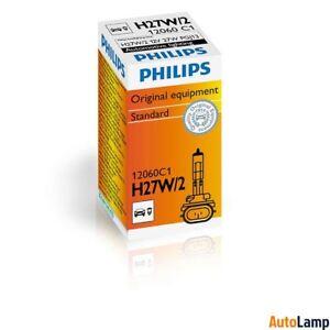 1x H27W/2 Standard lamp Car HALOGEN Fog light 12V 27W PGJ13 PHILIPS 12060C1