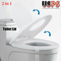 COLORFUL OWLS LINED COTTON ELONGATED TOILET SEAT LID COVER