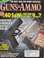Guns & Ammo Magazine June  1990 - Handguns - Rifles - Shotguns - .40 S&W