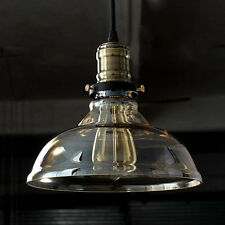 Industrial Loft Clear Glass Retro Vintage Ceiling Shade Pendant Light Chandelier