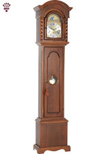 BilliB Corinthian Domed Top Grandmother Clock, Westminster Chime in Walnut