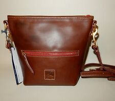 New Dooney & Bourke Fielding Florentine Mini Hobo Crossbody Bag Chestnut
