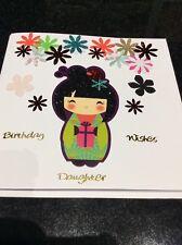 Handmade Japanese Birthday Girl Card
