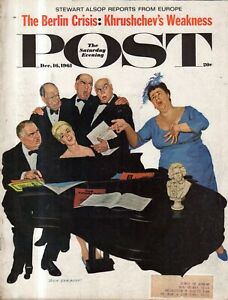 1961 Saturday Evening Post December 16 - Vonnegut; Limeliters; Boston Celtics