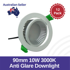 12-Pack LED Anti-Glare Downlights 10W 90mm 3000K Emerald Planet