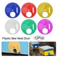 12pcs Beekeeping Bee Hive Nuc Box Entrance Gate Beekeepers Equipment Tool