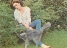 Actress Emanuelle Bart cat garden