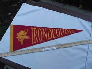 "Vintage 1960's Felt Pennant 24"" Irondequoit Vikings NY Youth Football Rochester"