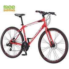 Schwinn Aluminum Bike 21 Speed Red 700C Men Hybrid Bicycle Disc brake Shimano