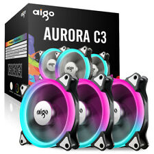 Aigo C3 3pcs computadora Case ventilador RGB 120mm silencio Led/ fan ajustable