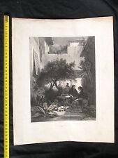 Une cour Séville C. Nanteuil pinx et lith. architecture Espagne gravure 6 images