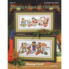 STONEY CREEK Cross Stitch Pattern Leaflet HANGING AROUND CHRISTMAS Kittens Puppy