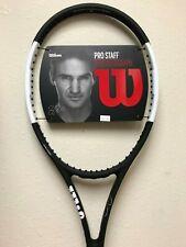 "Wilson Pro Staff RF 97 with Autograph Tennis Racquet Grip Size 4 1/4"""