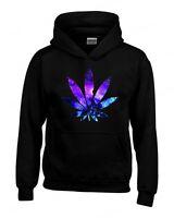 Galaxy Weed Leaf Hoodie Marijuana Cannabis Stoner Kush Pot 420 Sweatshirts