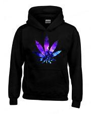 Galaxy WEED Leaf HOODIE kush stoner marijuana cosmos pot leaf hooded sweatshirt