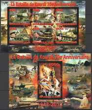 PE1248,1277 2013 BENIN WORLD WAR II WWII HITLER SWASTIKA KURSK BATTLE KB+BL MNH