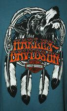 Harley-Davidson Tee Shirt Blue Bravado 2XL Reno Nevada 100% Cotton T-Shirt