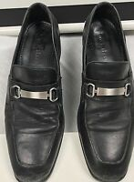 Cole Haan Leather Dress Shoes Mens Size 8.5 Black Loafers Buckle Fathers Day